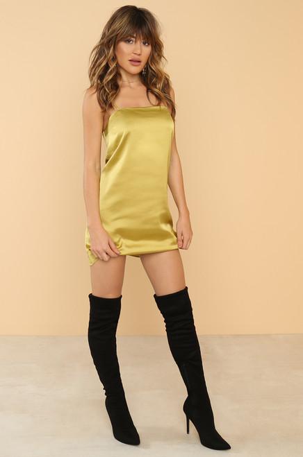 Dare To Bare Dress - Canary
