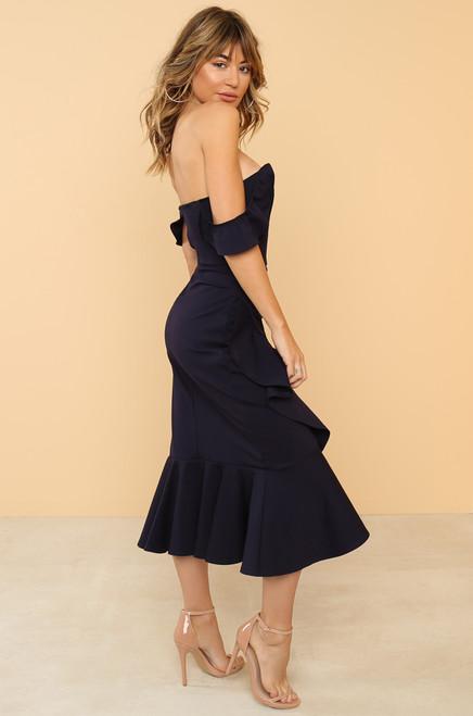 Make You Mine Dress - Navy