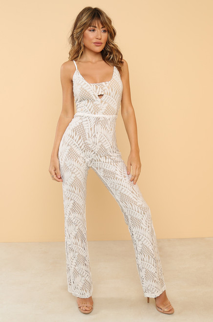 Lead The Way Jumpsuit - White