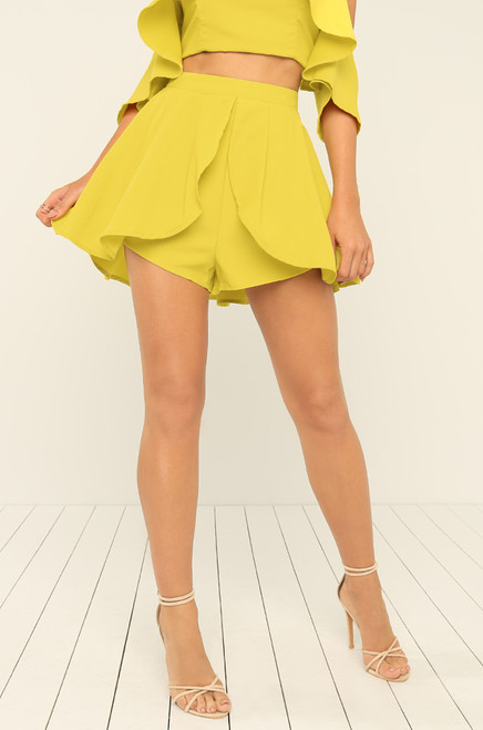 Meet Your Match Shorts - Canary