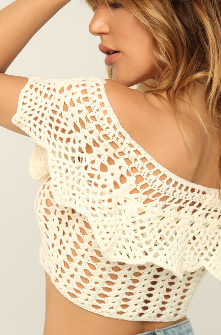 Stitch Together Top - Off-White