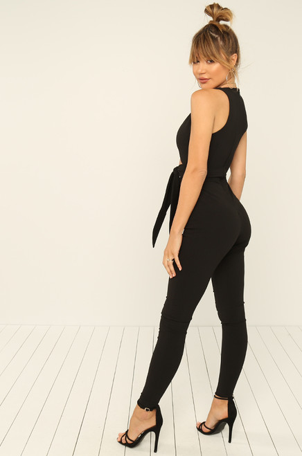 Knot Over It Jumpsuit - Black