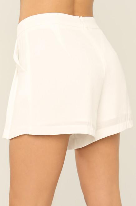 Feeling Flirty  Shorts - White