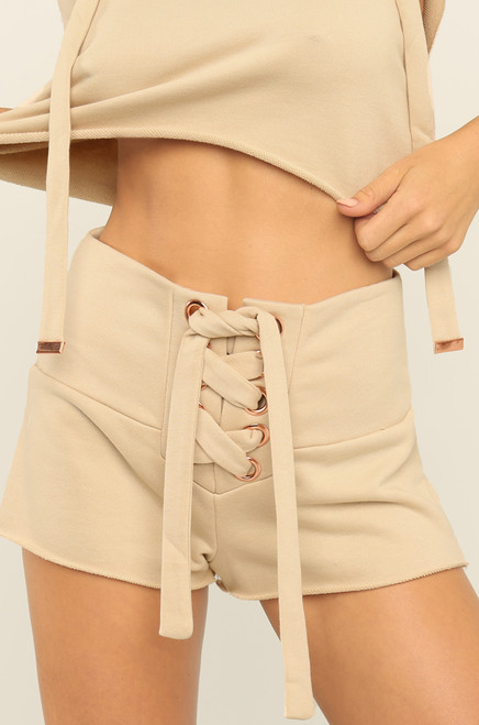 Work For It Shorts - Nude
