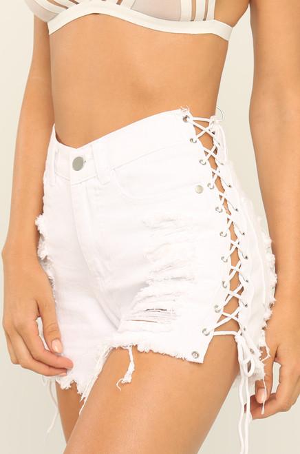Cross Over Shorts - White