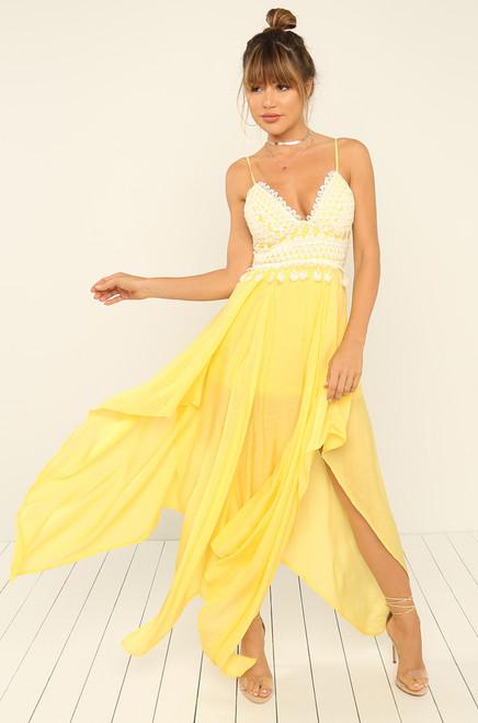 High Volume Dress - Canary