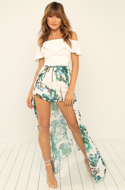 All The Way Up Romper - Floral