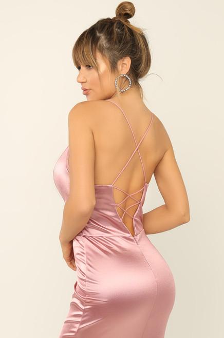 Nothing Like Me Dress  - Rose Satin