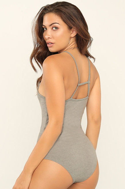 Look Back Bodysuit - Grey