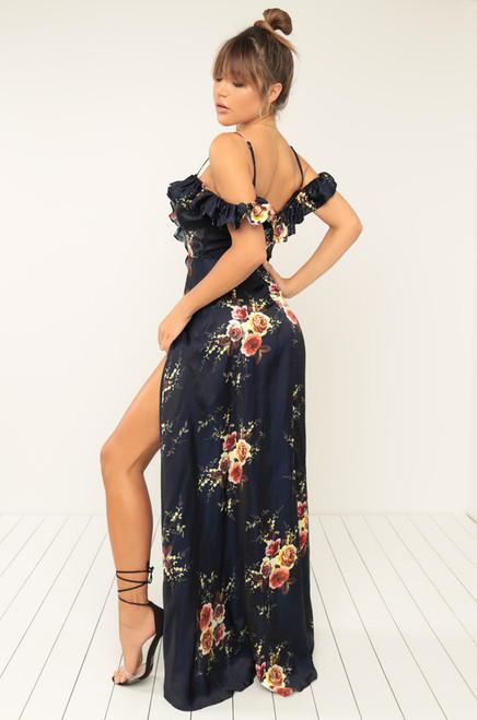 Sultry Appeal Dress - Navy