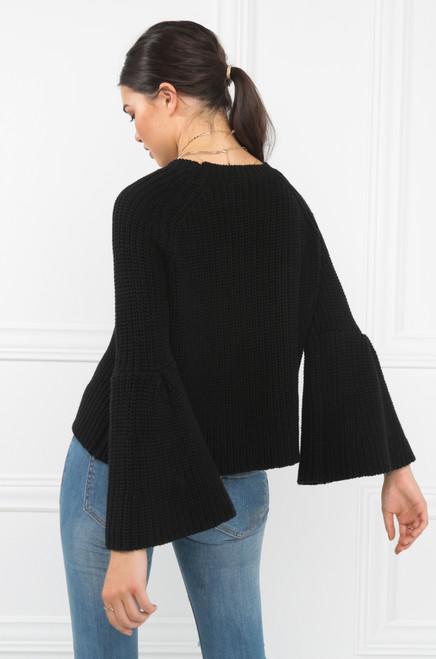 Without A Stitch Sweater - Black