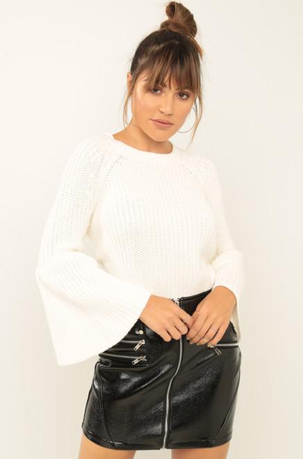 Without A Stitch Sweater - White