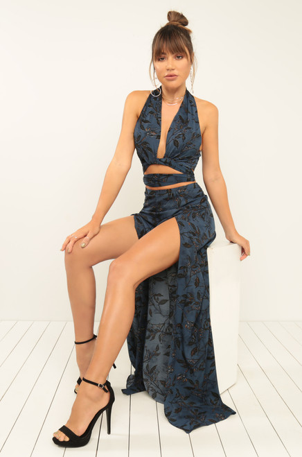 Ready For The Night Co-Ord Set - Navy