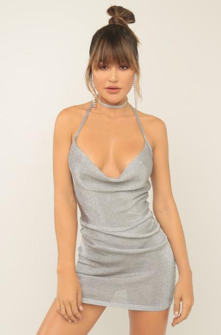 Winning Streak Dress - Silver