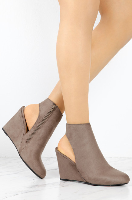 Wedged To Perfection - Taupe
