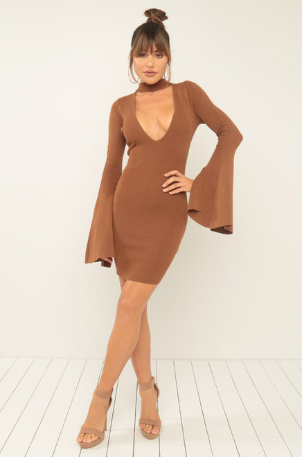 Cut To The Chase Dress - Cognac