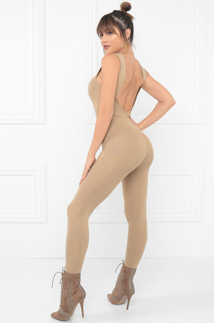 Watch Me Move Jumpsuit - Nude