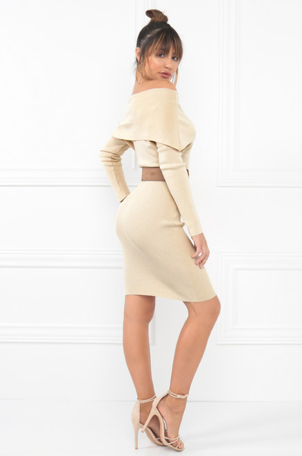 Rumors Dress - Nude