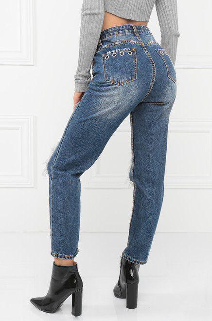 On Your Knees Jeans - Denim