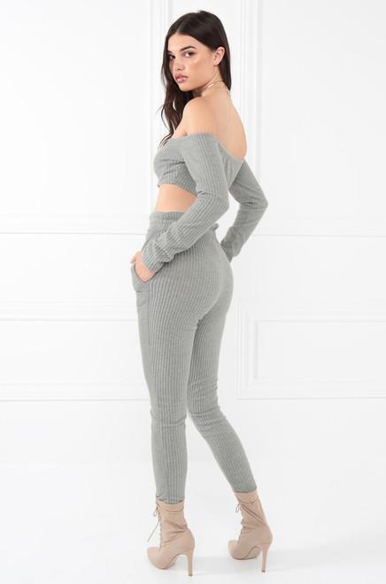 Hot Damn Co-Ord Set - Grey