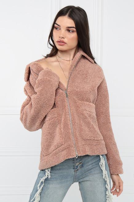 Cozy All Day Jacket - Mauve