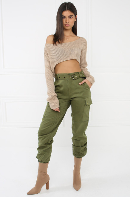 Style & Go Cargo Jogger Pants - Olive