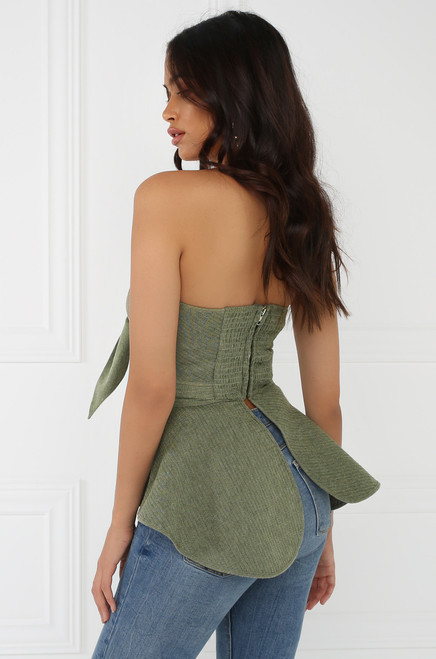 Forget Me Knot Top - Olive