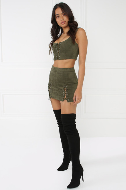 Tighten Up Co-Ord Set - Olive