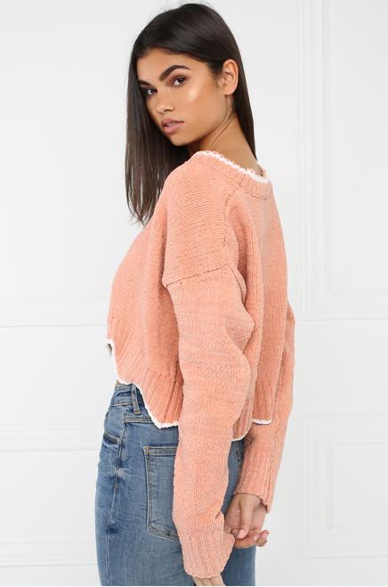 Scallop Crop Top - Blush
