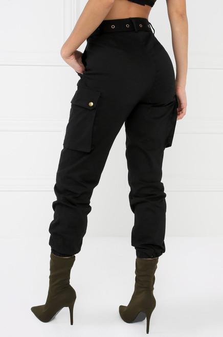 Style & Go Cargo Jogger Pants - Black