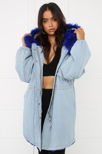 Live Out Loud Denim Coat - Blue