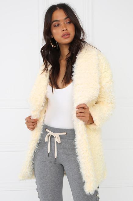 Bundle Up Faux Fur Coat - Ivory