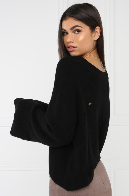 For The Chills Top - Black
