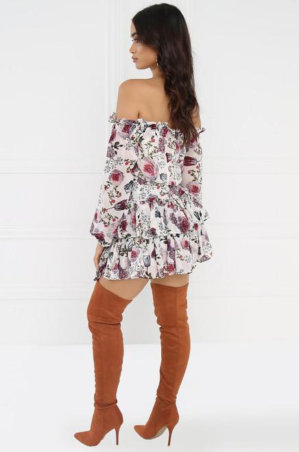 Savage Garden Dress - White