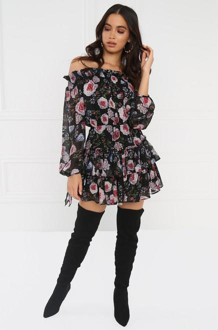 Savage Garden Dress - Black