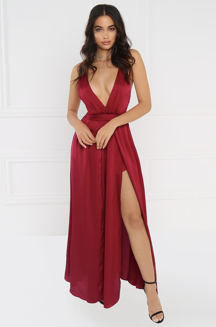 Charisma Dress - Wine
