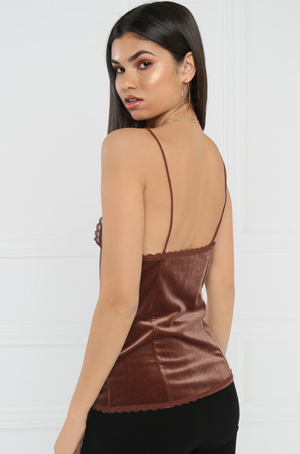 Lust for Luxury Cami - Rust