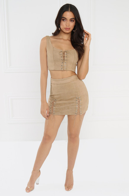 Tighten Up Co-Ord Set - Nude