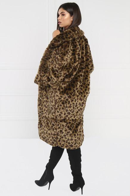 Got Your Tongue Coat - Leopard