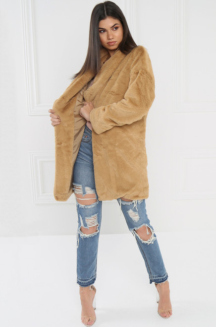 Faux-Ever Gorge Coat - Nude