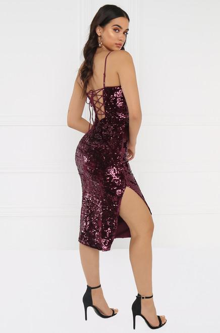 Alluring Dress - Wine