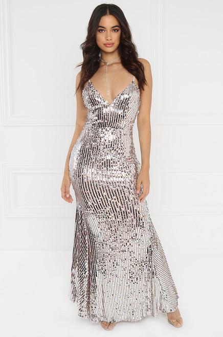 Haute Luxe Dress - Silver