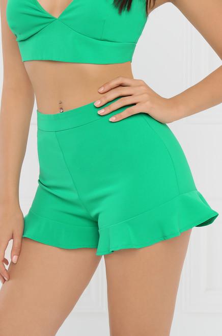 Crushin' On You Shorts - Green