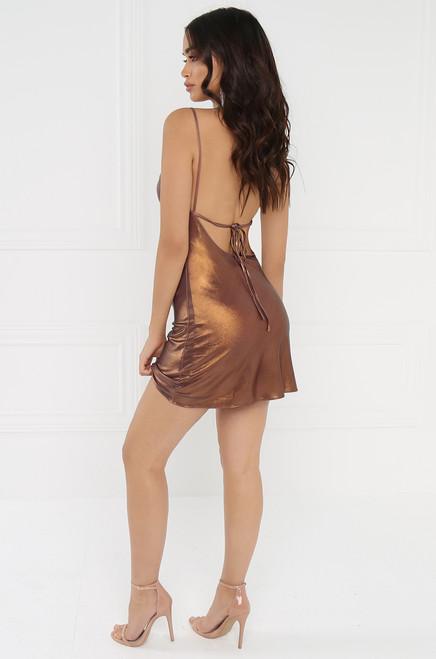 Hypnotic Honey Dress - Bronze