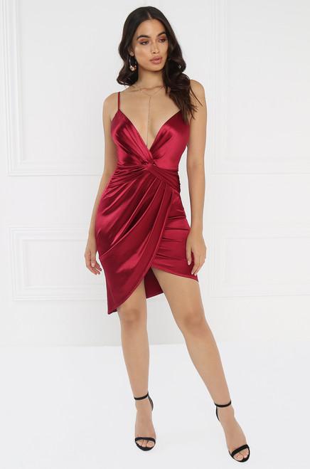 Double Take Dress - Wine