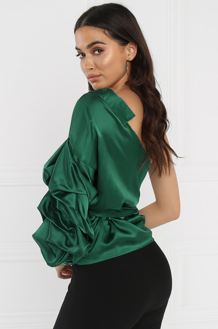 Single Sided Top - Emerald