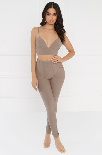 Streamlined Co-ord Set - Taupe
