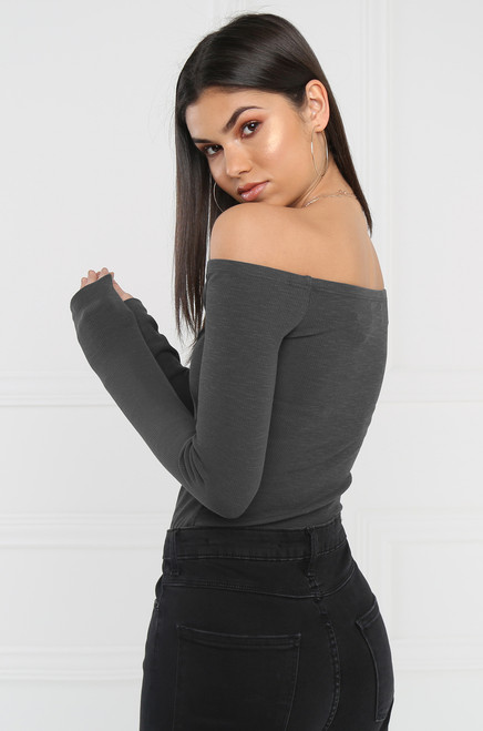 Back To Basics Bodysuit - Gray