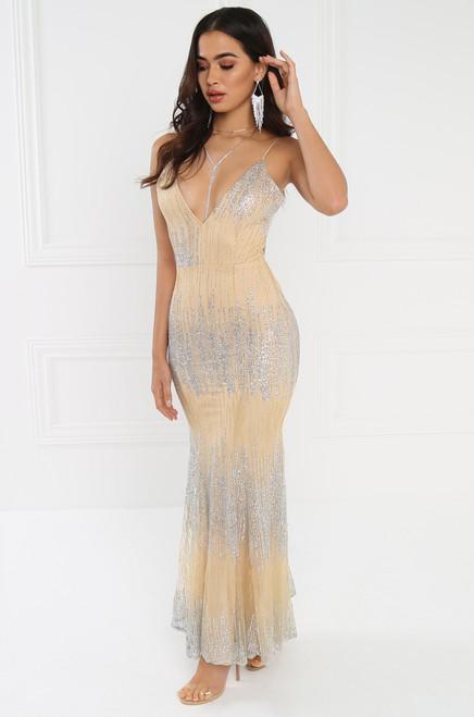 Raise a Glass Dress - Nude