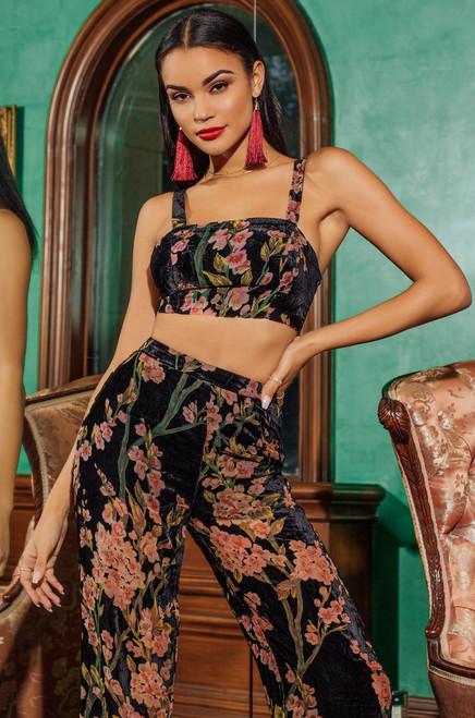 Ivy League Co-Ord - Black Floral